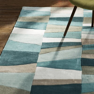 Carlotta Dried Oregano/Sea Blue Area Rug Rug Size: Rectangle 36 x 56