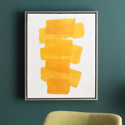Gunther Framed Painting Print on Canvas in Yellow