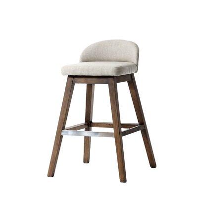 Johansson Bar Stool Upholstery: Ivory