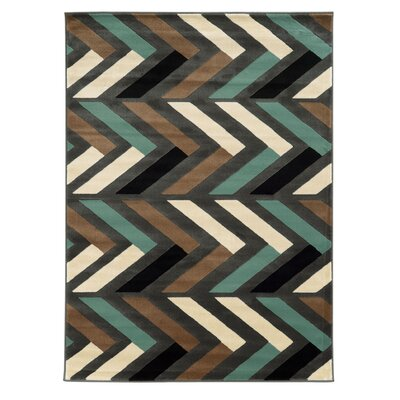Halvard Gray/Turquoise Area Rug Rug Size: Rectangle 5 x 7