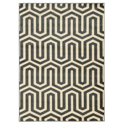 Hennings Ivory/Grey Area Rug Rug Size: 2 x 3