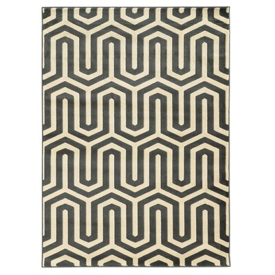Hennings Ivory/Grey Area Rug Rug Size: Rectangle 5 x 7