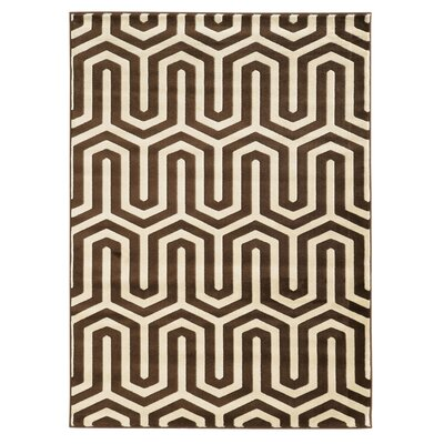 Patridge Ivory/Chocolate Area Rug Rug Size: 5 x 7