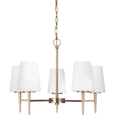 Ganador 5-Light Shaded Chandelier Finish: Satin Bronze, Bulb Type: 100 Watt A19 Medium