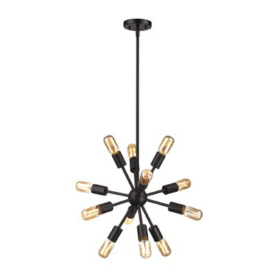 Kendall 12-Light Sputnik Chandelier Size: 16 H x 16 W x 16 D