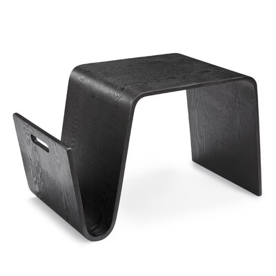Vollan End Table Color: Black