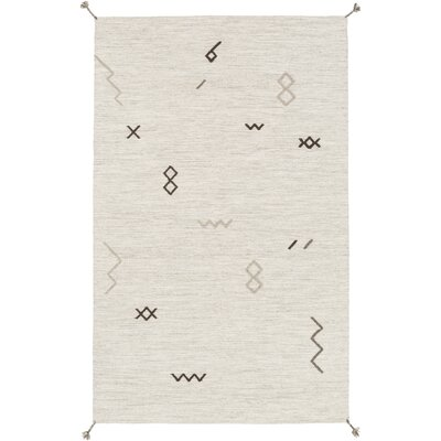 Ciara Hand-Woven Wool Area Rug Rug Size: Rectangle 5 x 8