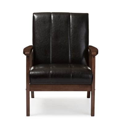 Kinley Armchair Upholstery: Brown