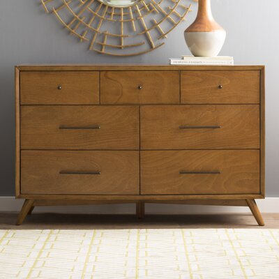 Parocela 7 Drawer Dresser Color: Acorn