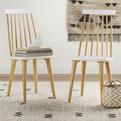 Clarence Side Chair Finish: Natural / White