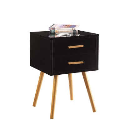 Phoebe End Table Finish: Black