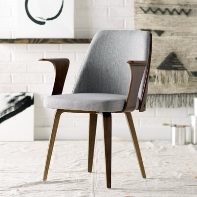 Twin Palms Arm Chair Upholstery: Grey