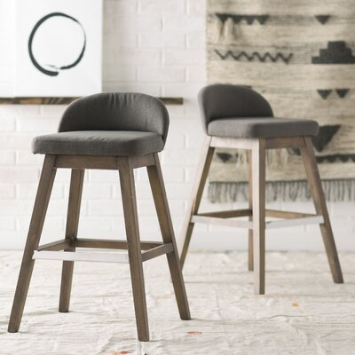 Johansson Bar Stool Upholstery: Dark Grey