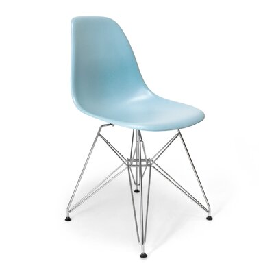 Brook Modern Side Chair Finish: Blue