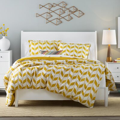 Madrona Duvet Cover Set Color: Gold Multi, Size: Full/Queen