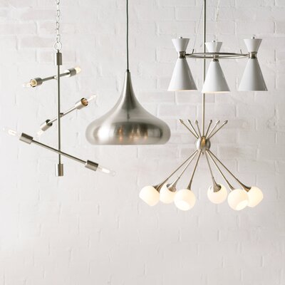 Drexler 6-Light Sputnik Chandelier Finish: Brushed Nickel