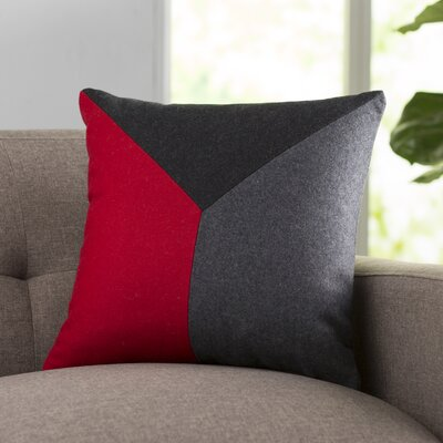 Snyder Wool Throw Pillow Size: 22 H x 22 W x 4 D, Color: Cherry/Black/Gray