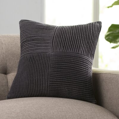Kaufman 100% Cotton Throw Pillow Size: 20 H x 20 W x 4 D, Color: Slate