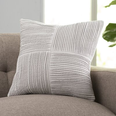 Kaufman 100% Cotton Throw Pillow Size: 22 H x 22 W x 4 D, Color: Gray