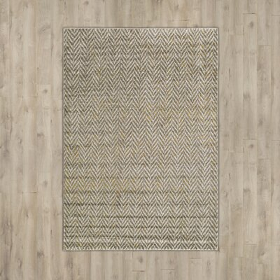 Burroughs Gray/Yellow Area Rug Rug Size: Rectangle 52 x 76