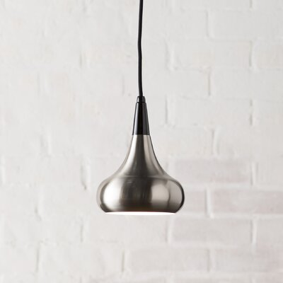 Dinesen 1-Light Mini Pendant Finish: Brushed Steel