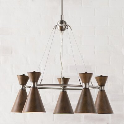 Ibsen 5-Light Shaded Chandelier Shade Color: Distressed Koa