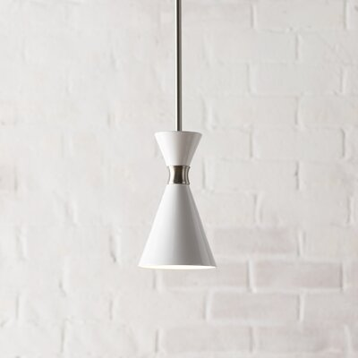 Ibsen 1-Light Mini Pendant Shade Color: Glitter Gloss White