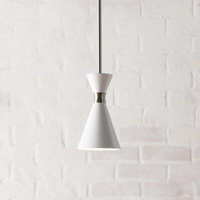 Ibsen 1-Light Mini Pendant Shade Color: Glitter Gloss White