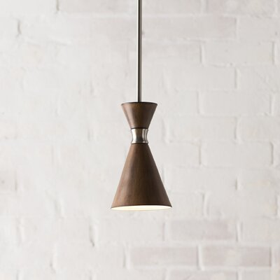Ibsen 1-Light Mini Pendant Shade Color: Distressed Koa