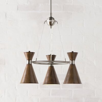 Ibsen 3-Light Mini Chandelier Shade Color: Distressed Koa