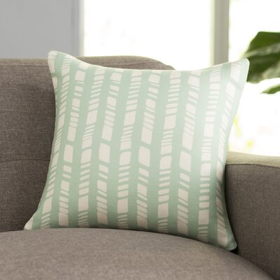 Nesler Throw Pillow Size: 18 H x 18 W, Color: Seafoam