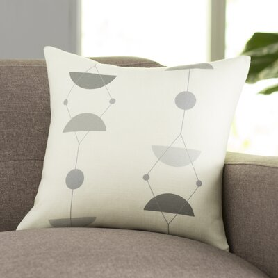 San Martin Throw Pillow Size: 18 H x 18 W, Color: Gray/Multi