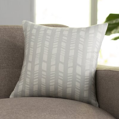Sahara Throw Pillow Size: 16 H x 16 W, Color: Gray