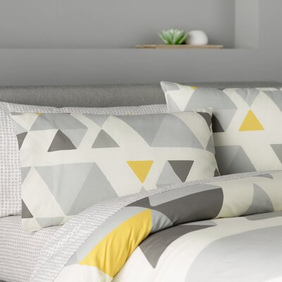 San Juan Lightweight Duvet Color: Gray/Multi, Size: Queen