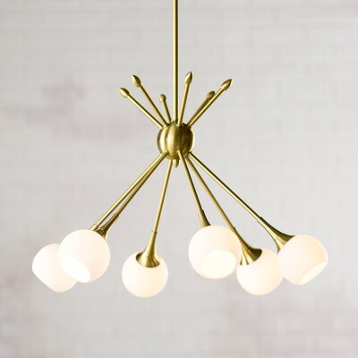 Drexler 6-Light Sputnik Chandelier Finish: Honey Gold