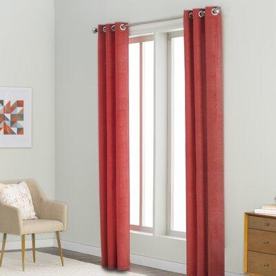Langley Street Margaret Solid Semi-Sheer Grommet Curtain Panels