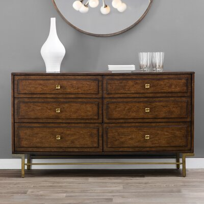 Copper Canyon 6 Drawer Double Dresser