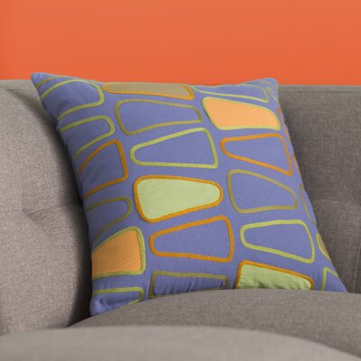 Geddes Cotton Throw Pillow Size: 18 H x 18 W x 4 D, Color: Cobalt/Olive/Rust/Lime/Tangerine