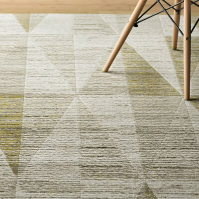 Lundgren Light Gray/Gold Area Rug Rug Size: 76 x 106