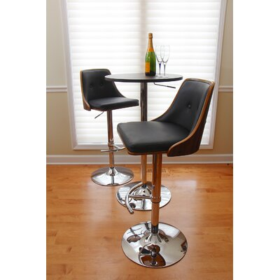 Langley Street Los Santos Adjustable Height Swivel Bar Stool