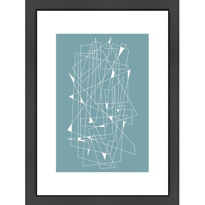 Langley Street Mid Century Scratch Framed Graphic Art