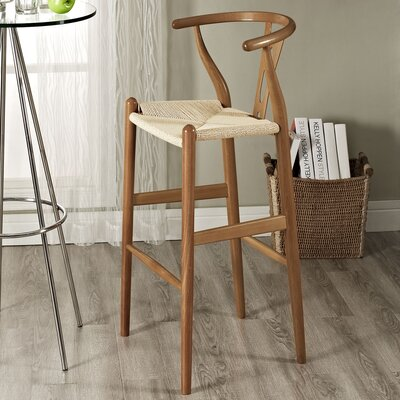 David 28.5 Bar Stool Frame Finish: Walnut