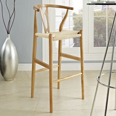 David 28.5 Bar Stool Frame Finish: Natural