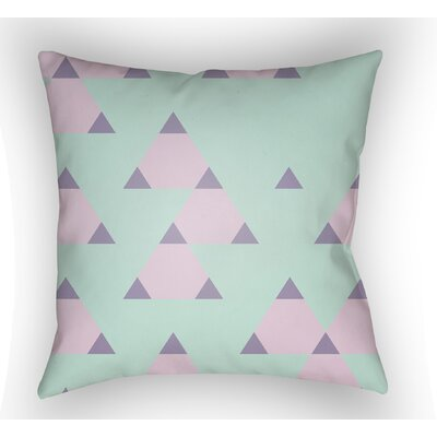 Danube Square Throw Pillow Size: 18 H x 18 W x 4 D, Color: Mint