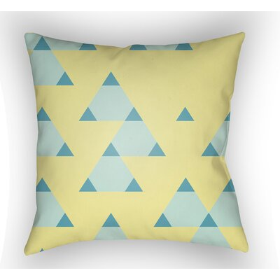 Danube Square Throw Pillow Size: 18 H x 18 W x 4 D, Color: Yellow