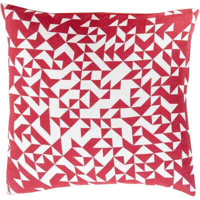 Icon Way 100% Cotton Throw Pillow Size: 18 H x 18 W x 4 D, Color: Magenta, Filler: Down