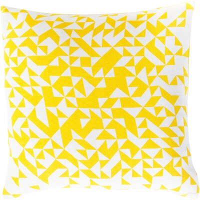 Icon Way 100% Cotton Throw Pillow Size: 22 H x 22 W x 4 D, Color: Sunflower, Filler: Polyester