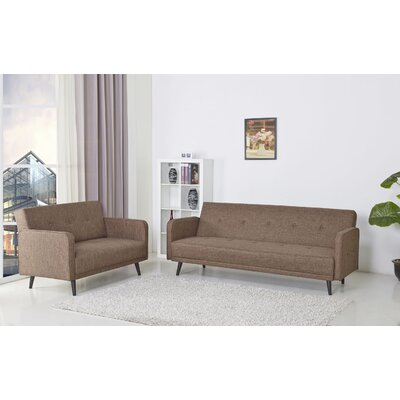 Zelmo Sleeper Sofa Upholstery: Brown Ceramic