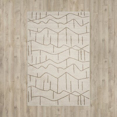 Dunclug Ivory/Grey Indoor/Outdoor Area Rug Rug Size: 4 x 6