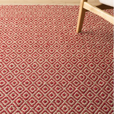 Kenzo Hand-Woven Pink/Beige Area Rug Rug Size: Rectangle 4 x 6